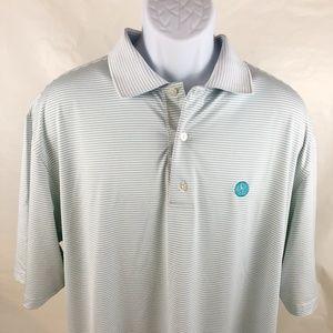 FJ FOOTJOY Polo Golf Shirt Short Sleeve Stripe